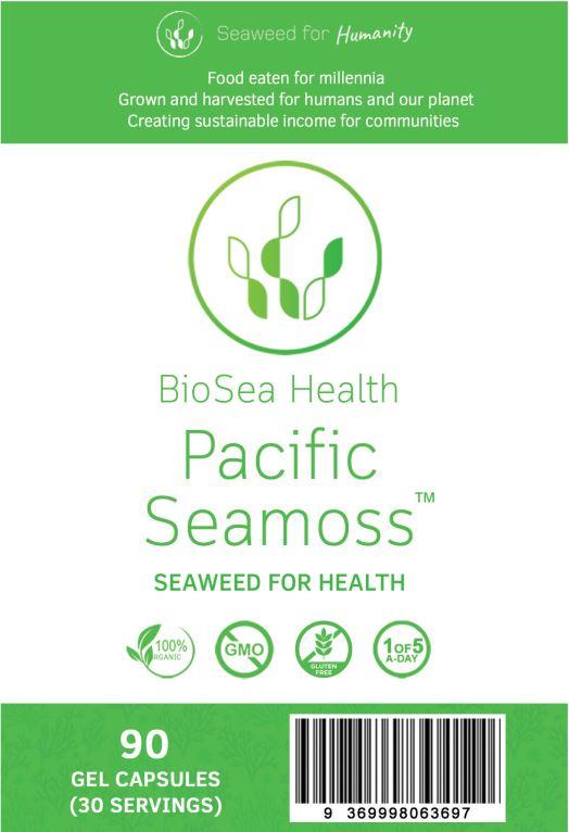 Pacific Seamoss 90 capsules label